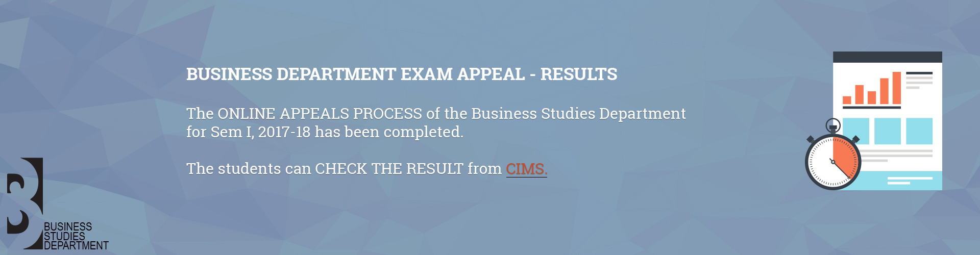 Business Department Exam Appeal - Results