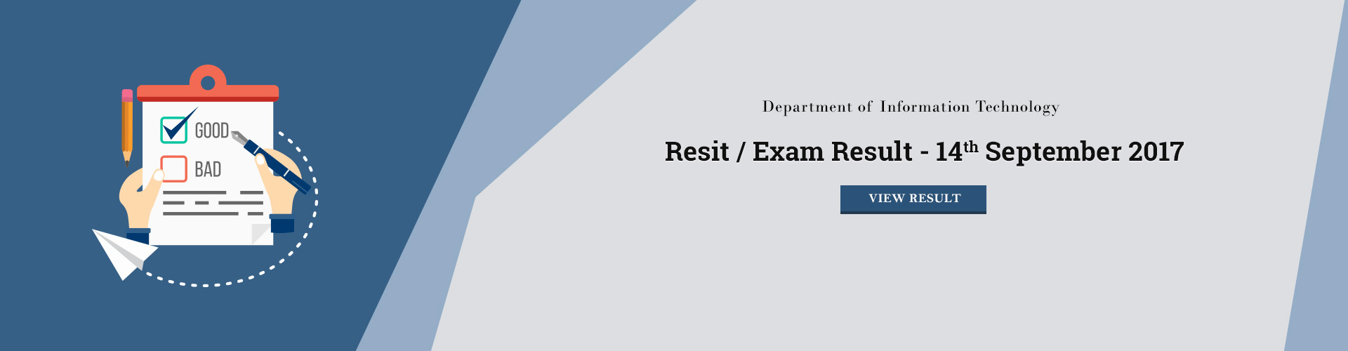 IT - Resit / Exit Exam Results - 14 September 2017