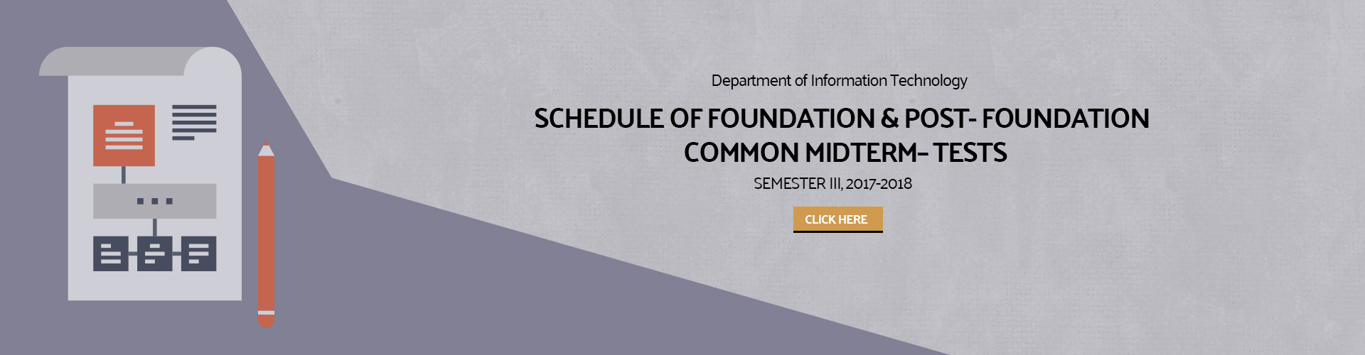 IT Department - Schedule of Foundation & Post - Foundation Common Midterm Tests Semester III AY(2017-2018)