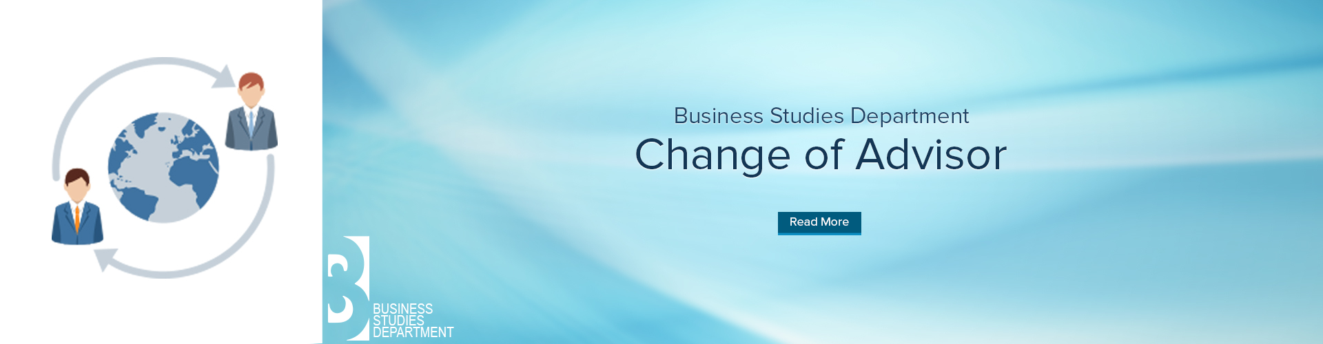Business Studies Department - Change of advisor