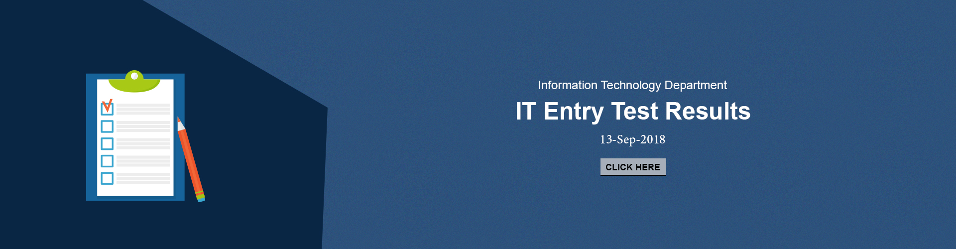 IT Department - Entry Test Results 13 September 2018