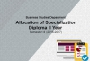 Business Studies Department - Diploma 2nd Year - Specialization Allocation