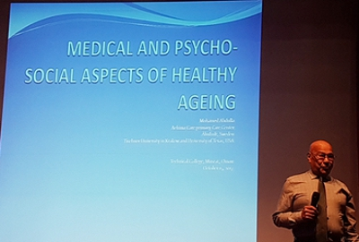 Department of Applied Sciences Conducted a Talk on the Medical and Psycho-Social Aspects of Healthy Ageing in Collaboration with the Swedish Medical Board by Professor Mohammed Abdallah