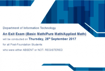 Exit Exam (Basic Math/Pure Math/Applied Math)