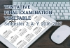 Tentative Final Examination Schedule, Semester 2 AY 2016 - 2017