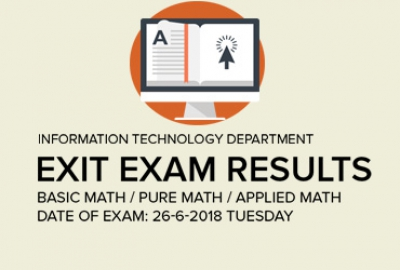 IT Department - Exit Exam Results Basic Math / Pure Math / Applied Math
