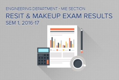MIE Section - Makeup / Re-sit Exam Results