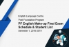 Post Foundation English Make-up Final Exam Schedule & Student List