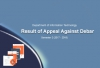 IT Department - Result of Appeal Against Debar Semester 2 AY(2017 - 2018)