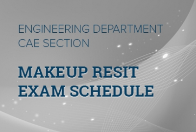 Engineering Department CAE Section - Schedule of Makeup & Resit Examination - Academic Year 2016-17 Sem III