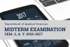 Applied Science Department Midterm Examination Sem. 2, A. Y. 2016-2017