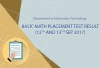 Basic Math Placement Test Result (12th And 13th Sep 2017)