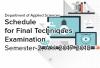 Department of Applied Sciences Schedule for Final Techniques Examination