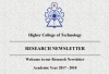Research Newsletter, Academic Year 2017 - 2018