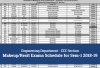 Electrical & Electronics Engineering (EEE) - Makeup / Resit Exams Schedule for Sem-1 2018-19