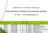 ITAD1100 Advance IT Skills Final Examination Schedule