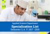 Applied Sciences Department - Specialization List for Semester 3, A.Y. 2017 -2018