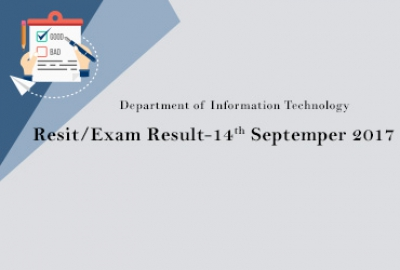IT Department - Resit Exam Results -14th September 2017