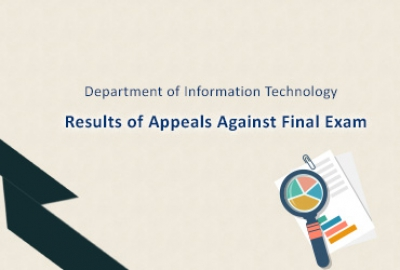 IT Department - Results of Appeals Against Final Exam