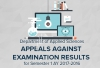 Applied Sciences Department - Appeals against Examination Results for Semester 1 AY 2016-2017