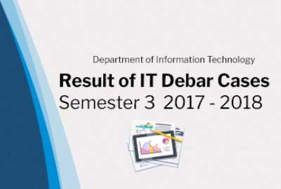 Result of IT Debar Cases Semester 3 AY(2017 - 2018)