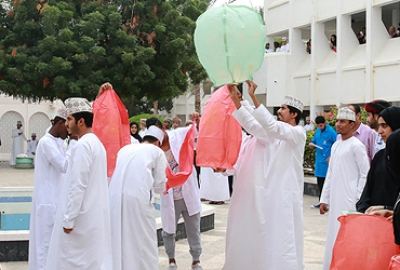 Staff and students of Applied Sciences Department jointly celebrated the 46th National day of Oman through various exhibits and a common lunch party to enhance their mutual social interactions