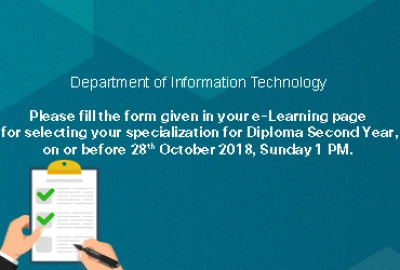 IT Department - Specialization Survey Form for Students in Diploma Second Year