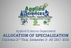 Applied Sciences Department - Allocation of Specialization, Diploma 2nd Year, Semester-3 AY 2016-2017
