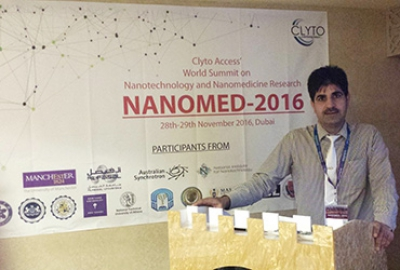 "Dr. Masood Ahmad of Applied Chemistry section, Department of Applied Sciences gave an invited talk on ""Nano-Materials for various applications"" at the World summit in Dubai"