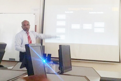 "Guest Lecture by Mr. Francis Rajendran (Quality Assurance Unit, HCT) on ""Institutional Standards Assessment Application"""