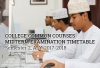 College Common Courses Midterm Examination Timetable - Semester 2, A. Y. 2017-2018
