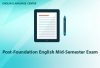 ELC - Post-Foundation English Mid-Semester Exam
