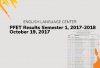 ELC - PFET Results Semester 1, 2017-2018 - October 19, 2017