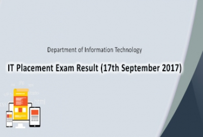IT Placement Exam Result (17 September 2017)