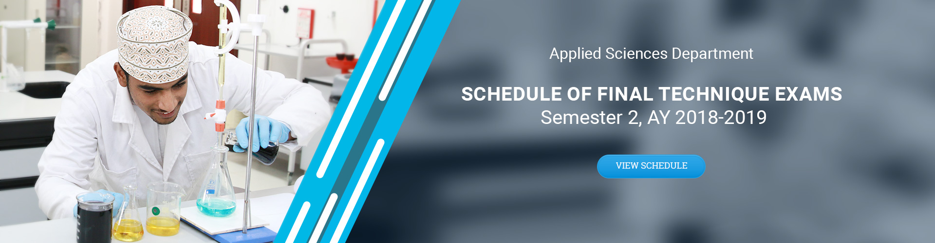 Applied Sciences Department - Schedule of Final Technique Exams Sem2 AY 2018-2019