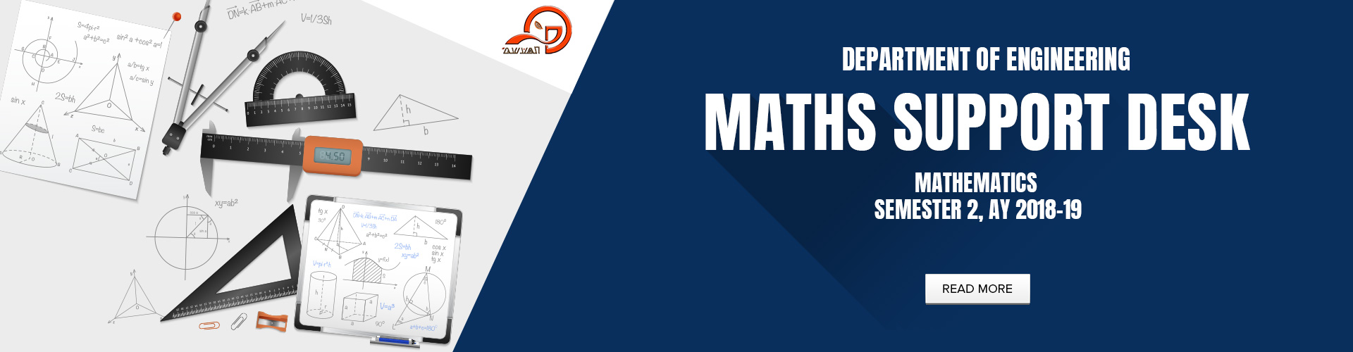 Department of Engineering - Maths Support Desk for Semester 2, AY 2018-19