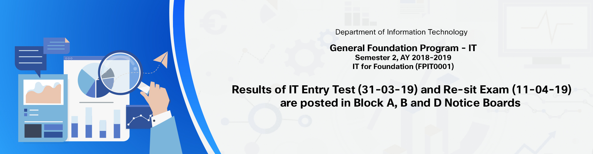Results of IT Entry Test (31-03-19)
