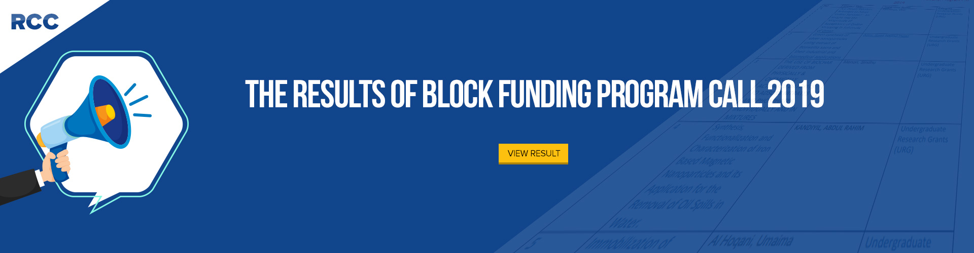 The Results of Block Funding Program Call 2019
