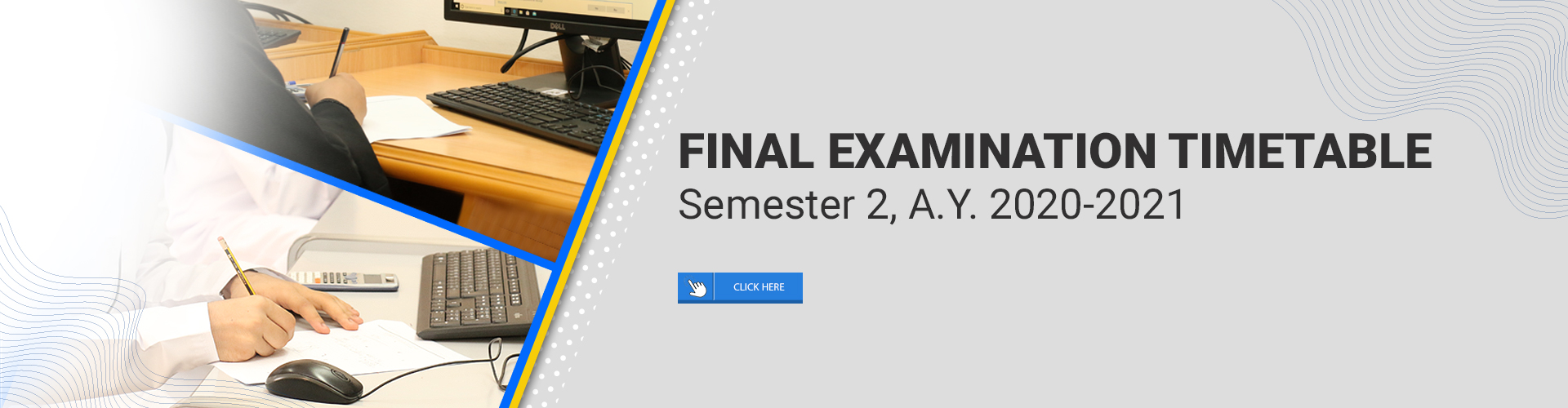 Final Examination Timetable - Semester 2 AY 2020-2021