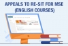 Appeals to Re-sit for MSE (English Courses)