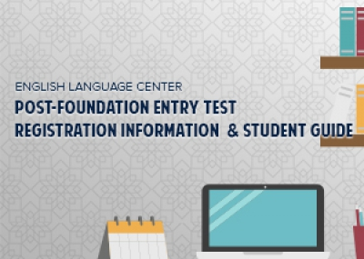 Post-Foundation Entry Test Registration Information, Student Guide and Sample Tests