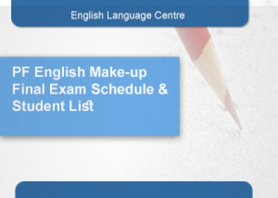 PF English Make-up Final Exam Schedule & Student List