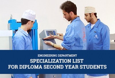 Specialization List  for Diploma Second Year Students