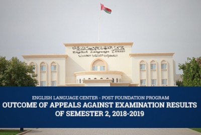 ELC - Outcome of Appeals Against Examination Results of Semester 2, 2018-2019
