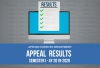 Applied Sciences Department - Appeal Results for Semester 1, AY 2019-2020