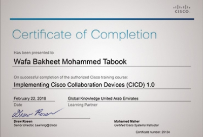 ETC Staff Training Development - CISCO Training on Implementing CISCO Collaboration Devices (CICD) Batch 2