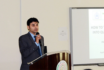 Dr. Pankaj Sah of Applied Sciences Department delivered the keynote speech in the First National Symposium on the Emerging Trends in Engineering and Management organized by WCAS