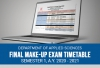 Applied Sciences Department - Final Make-up Exam Timetable