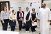 Al Sahwa school students visited Fashion Design Department for students and teachers interview