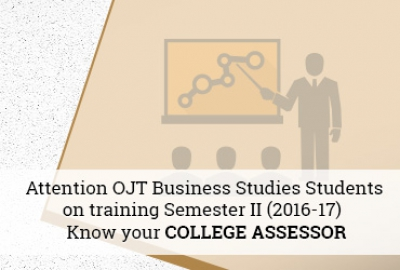 Higher College of Technology - Business Studies Department - OJT